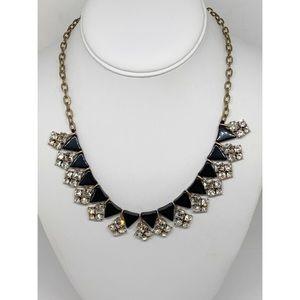 J. Crew Black Gold Crystal Necklace